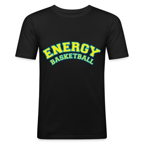 eco logo energy basketball giallo - Maglietta aderente da uomo