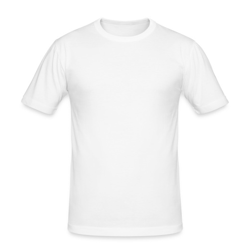 Nerdpol Logo White - Männer Slim Fit T-Shirt
