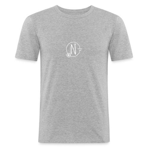 Nerdpol Logo White - Männer Slim Fit T-Shirt