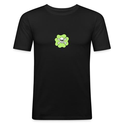 Ireland Clover Shamrock Saint patricks day Skulls - Männer Slim Fit T-Shirt