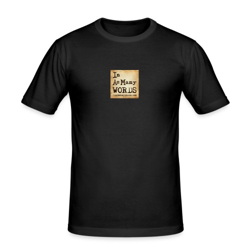 I AM Words LOGO_Brown - Men's Slim Fit T-Shirt