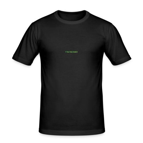 Tshirt Green triangles big - Männer Slim Fit T-Shirt