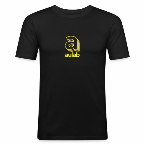 Marchio aulab giallo - Maglietta aderente da uomo