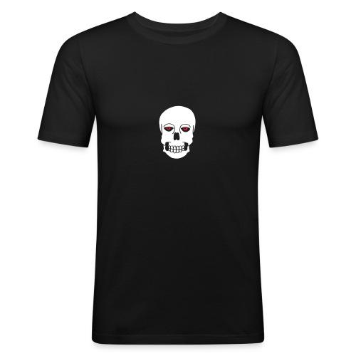 Schädel Skulls Augen Eyes Death Tod Horror Tattoo - Männer Slim Fit T-Shirt