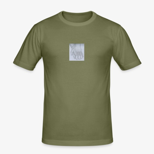 main dans la main - T-shirt près du corps Homme