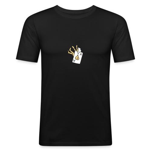 Poker Herz Heart Ass Ace Frau Woman Girl Pinup - Männer Slim Fit T-Shirt