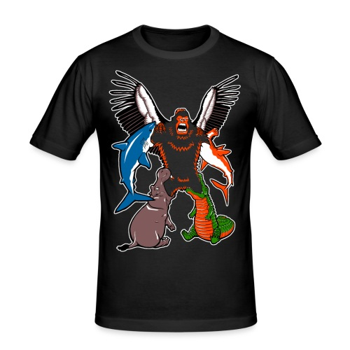 Sasquatchtron - Men's Slim Fit T-Shirt