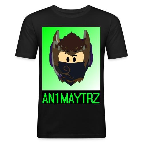 AN1MAYTRZ logo + title - Men's Slim Fit T-Shirt
