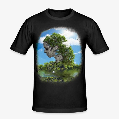 Land of Id - Slim Fit T-shirt herr