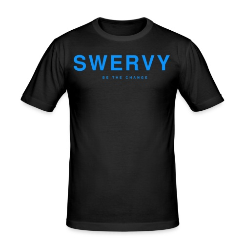 SWERVY BE THE CHANGE - BLUE - Men's Slim Fit T-Shirt