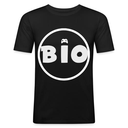 WHITE LOGO - Mannen slim fit T-shirt