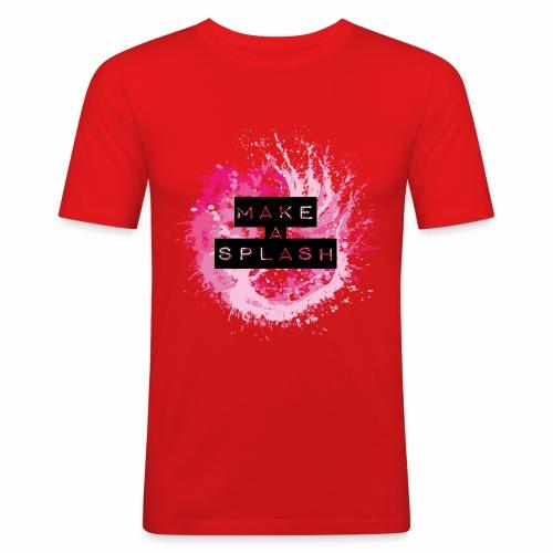 Make a Splash - Aquarell Design - Männer Slim Fit T-Shirt