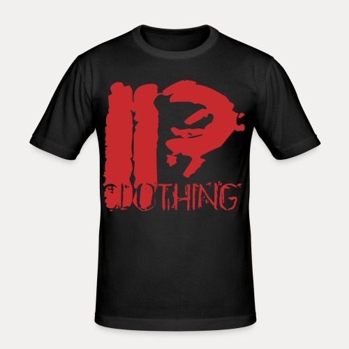 IRON PSYCHO LOGO ORIGINAL-RED - Men's Slim Fit T-Shirt