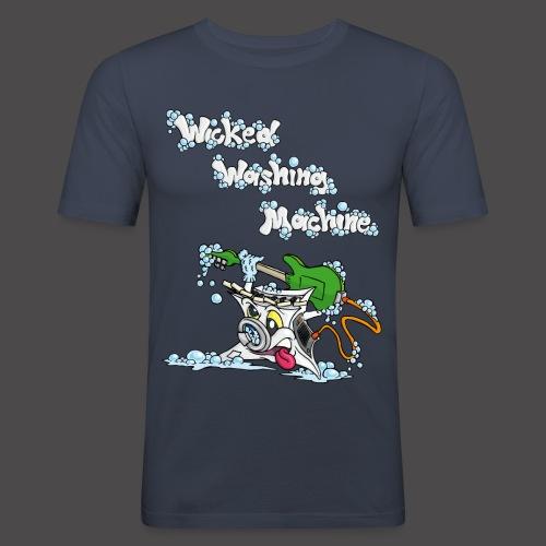Wicked Washing Machine Cartoon and Logo - Mannen slim fit T-shirt