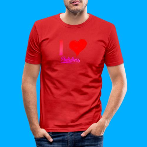 I Heart Potato T-Shirts - Men's Slim Fit T-Shirt