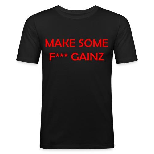 MakeSomeF *** Gainz_red - Men's Slim Fit T-Shirt