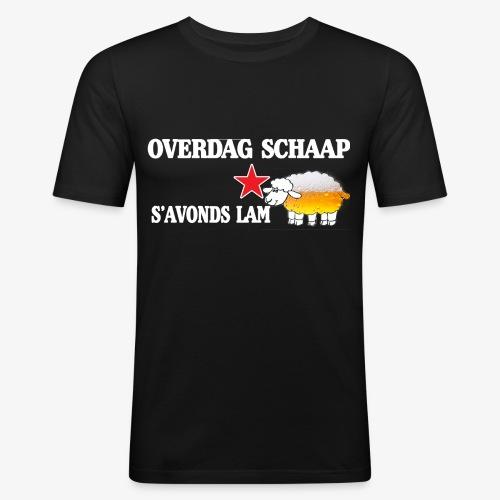 Overdag Schaap S'avonds Lam! - Mannen slim fit T-shirt