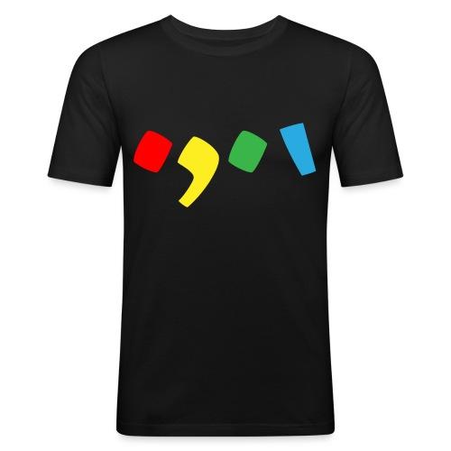 Tjien Logo Design - Accents - Mannen slim fit T-shirt