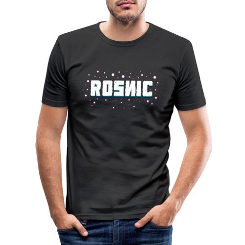 Rosnic Wit - Mannen slim fit T-shirt