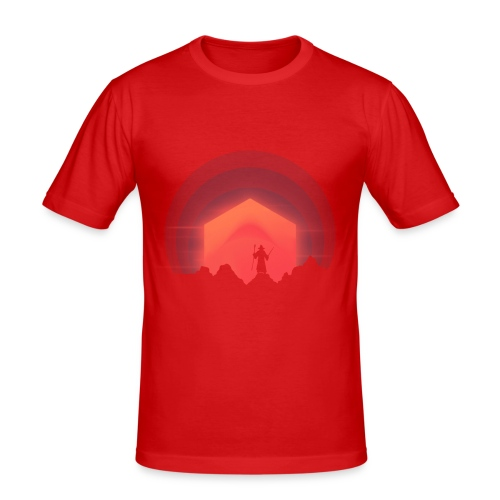 The Nightly Adventure D20 - DnD Dungeons Dragons - Miesten tyköistuva t-paita