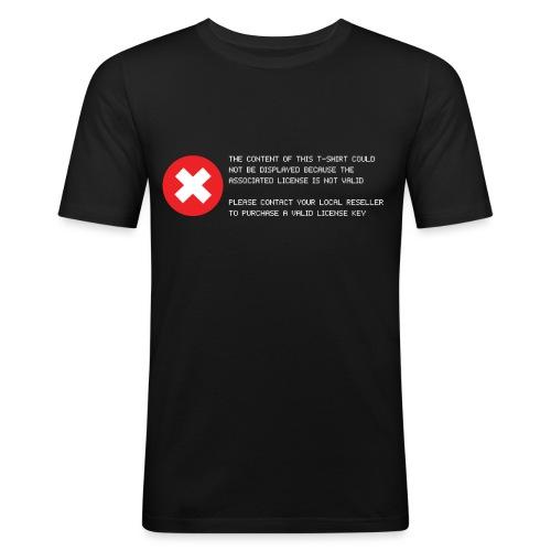 T-shirt Error - Maglietta aderente da uomo