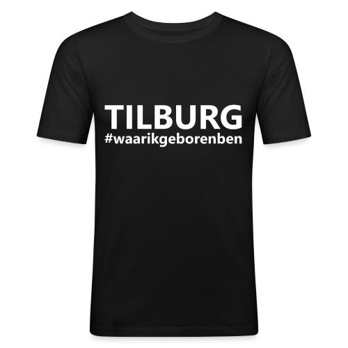 #waarikgeborenben - Mannen slim fit T-shirt