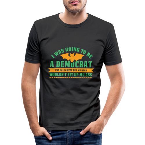 Ich wollte ein Demokrat zu Halloween sein - Männer Slim Fit T-Shirt