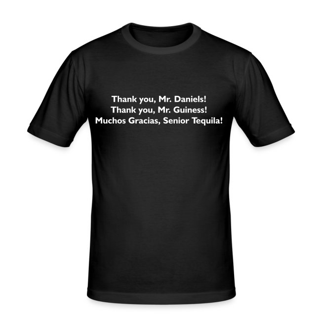 Thank You Mr. Alcohol - PrintShirt.at