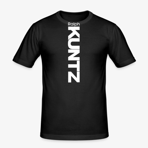 Ralph KUNTZ (White Logo) (Vertical) - Men's Slim Fit T-Shirt