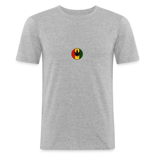 weed logo - Herre Slim Fit T-Shirt