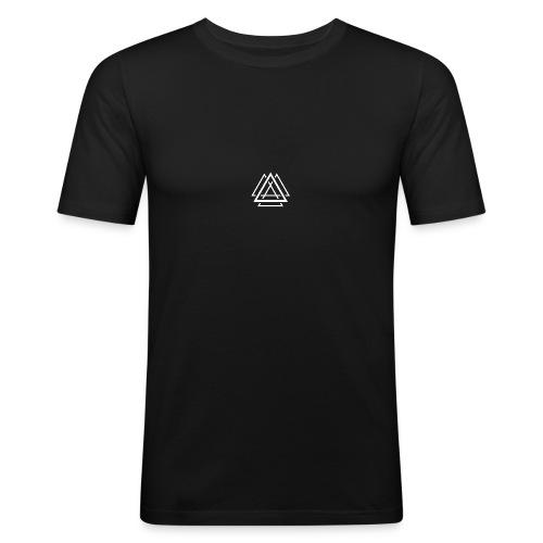 Aalson Blanc - T-shirt près du corps Homme