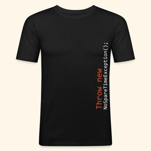 NoSpareTimeException - Men's Slim Fit T-Shirt