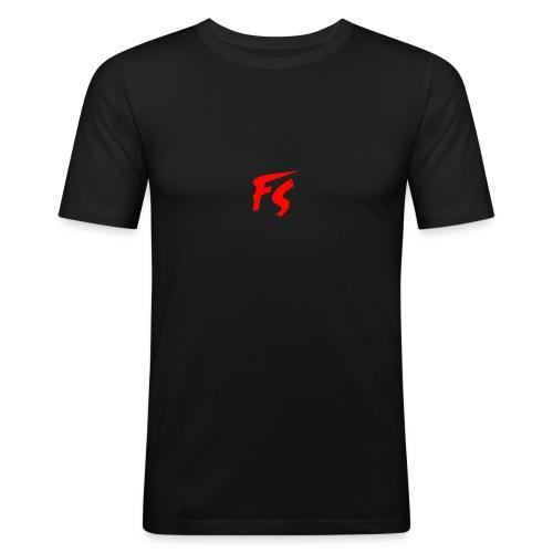 FS Logo rood - Mannen slim fit T-shirt