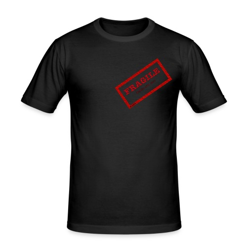 fragil png - Camiseta ajustada hombre