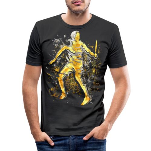 Badminton - Smash - Badminton Spieler - Männer Slim Fit T-Shirt
