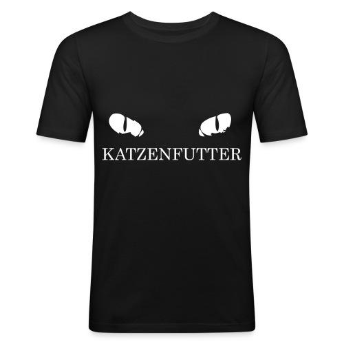 katzenfutter - Männer Slim Fit T-Shirt