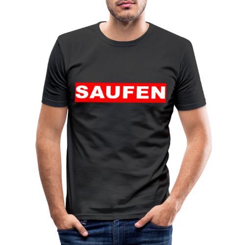 SAUFEN - Männer Slim Fit T-Shirt