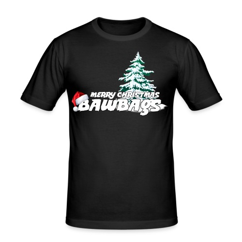 Merry Christmas Bawbags - Men's Slim Fit T-Shirt