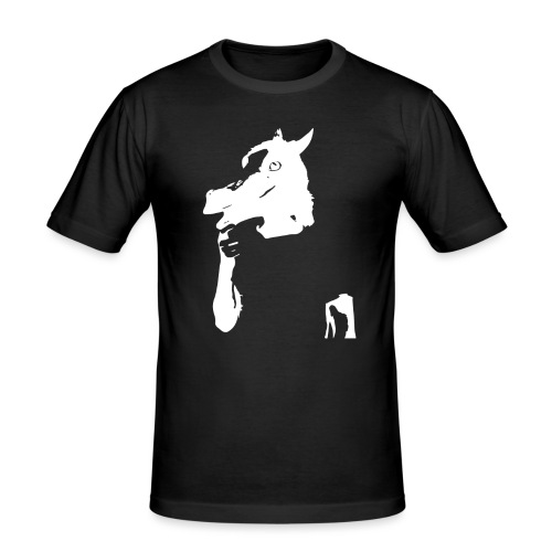 Funny horse - T-shirt près du corps Homme