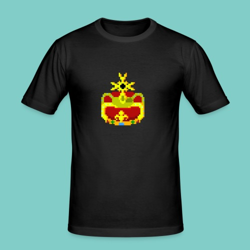 Couronne Pixel art - T-shirt près du corps Homme