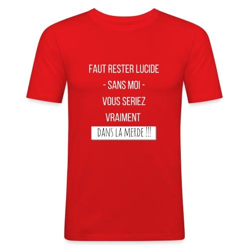 Je suis indispensable ! - T-shirt près du corps Homme