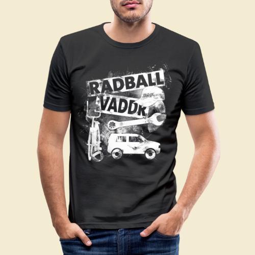Radball | Vaddr - Männer Slim Fit T-Shirt