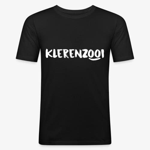 Zwarte mannencollectie - Mannen slim fit T-shirt