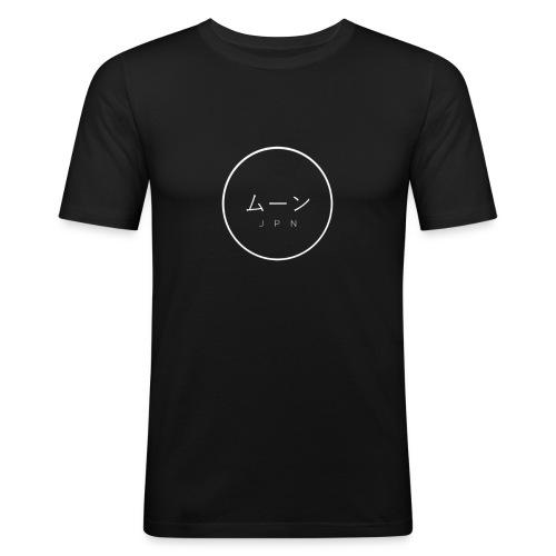 Mūn- logo blanc - T-shirt près du corps Homme