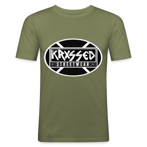 KRXSSED BASIC - Mannen slim fit T-shirt