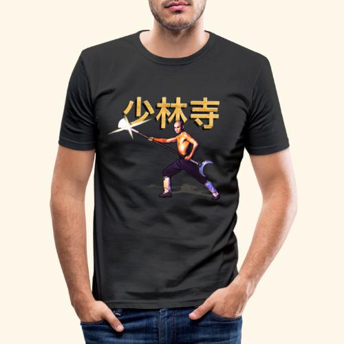 Gordon Liu as San Te - Warrior Monk - Mannen slim fit T-shirt