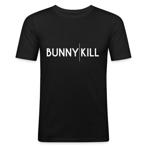 bunny kill logo 02 weiss frei png - Männer Slim Fit T-Shirt
