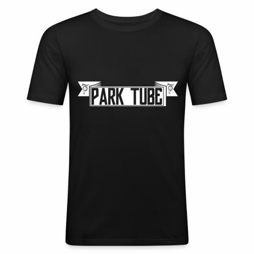 ParkTube Banner weiss - Männer Slim Fit T-Shirt