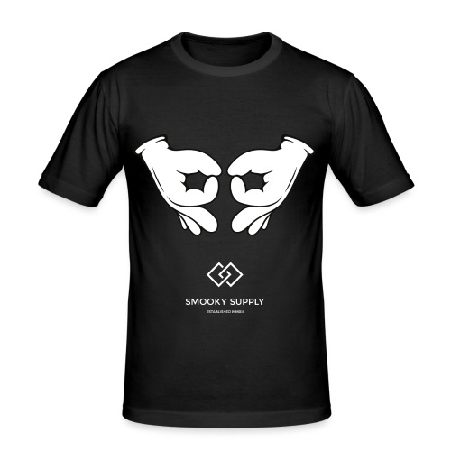 Gangsigns white png - Männer Slim Fit T-Shirt