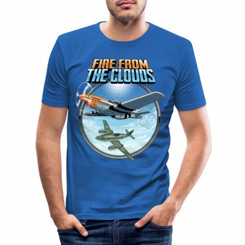 Le feu des nuages - T-shirt près du corps Homme